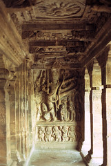 badami - cave two 3 - interior sculpture (Doctor Casino) Tags: 2 architecture temple 2nd architect second cave rockcut chalukyan vatapi
