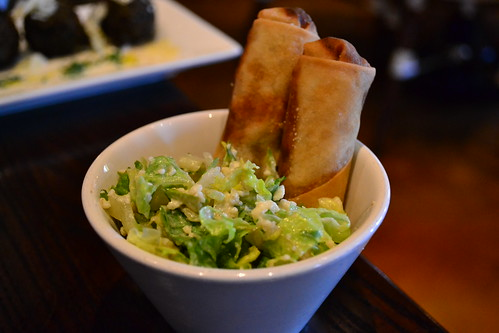 DC - Cuba Libre Short Rib Spring Roll and Ceasar Salad