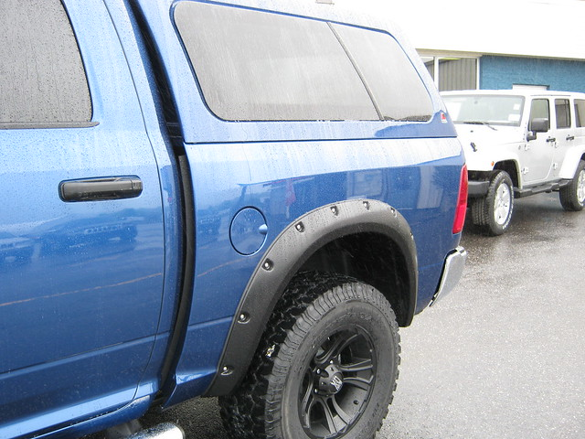 blue mud wind cab quad cap dodge custom ram 1500 flaps deflector 2011