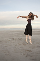 Michaela (allisonjay) Tags: blue ballet black clouds point dance shoes tank purple top skirt saltflats saltlakecityutah saltair