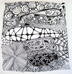 back to basics (rivka yyz) Tags: zentangle doodle zendoodle 2011 sakuramicronpigma pencil blackandwhite penandink