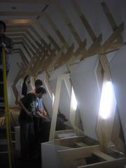 P3300293 (imadebsu) Tags: studio acrylic installation limestone plywood ima veneer agan 2008spring mmfx mmfxexhprocessweb