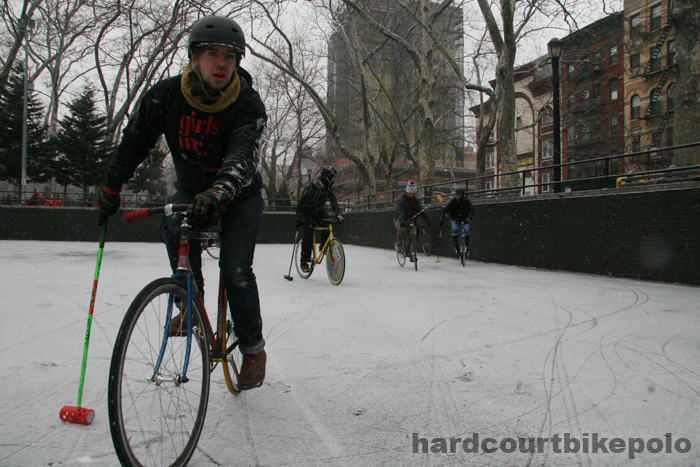 hardcourt bike polo ben hunter close snow