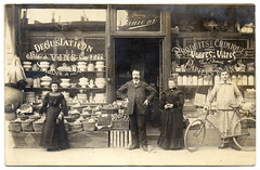 For All Your Grocery and Hardware Needs: Maison Laurent! (1905) (postaletrice) Tags: old white black paris france blanco