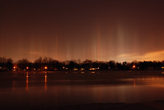 Light Pillars (Lake Effect) Tags: water lights indiana elkhart stjosephriver lightpillar msh02101 msh0210