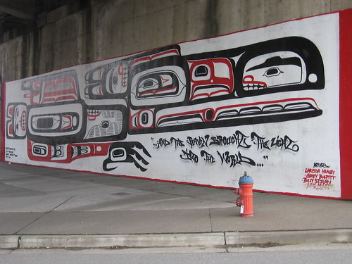 Haida art Under the Granville Bridge