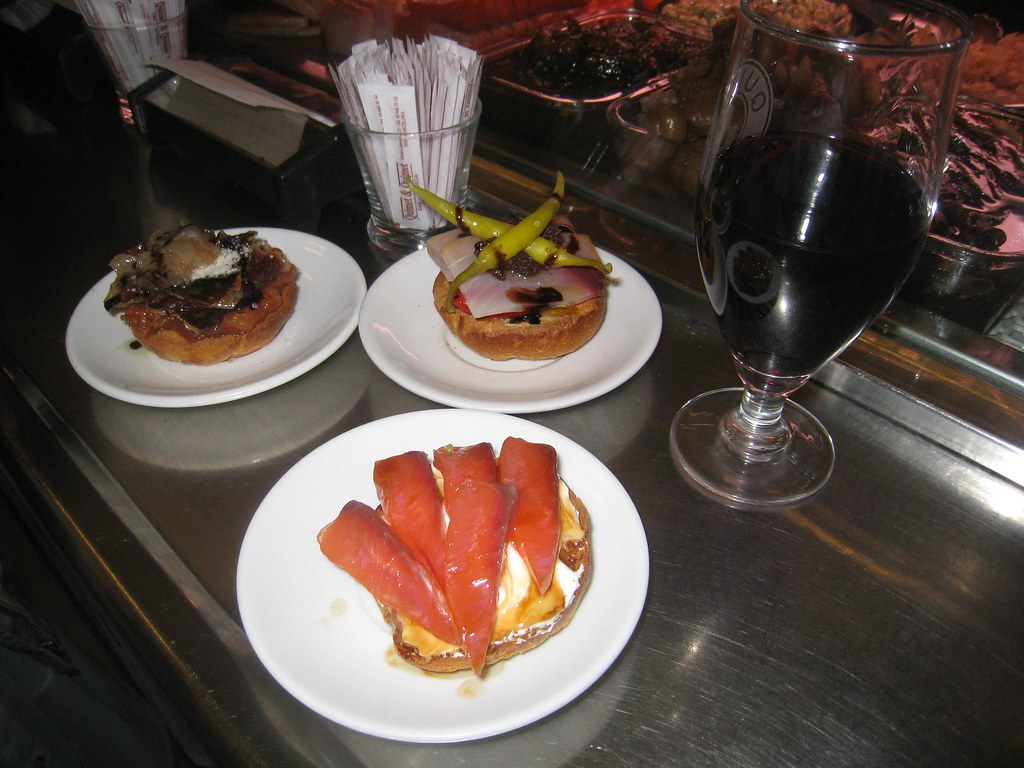 Tapas and wine at Quimet and Quimet.
