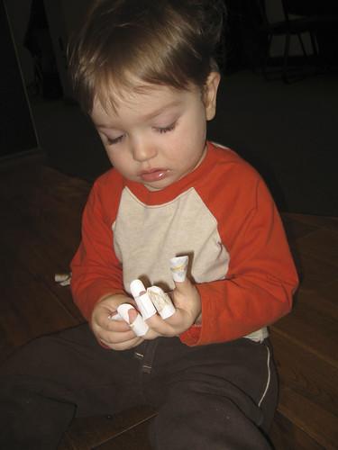 fingerpuppets at storytime