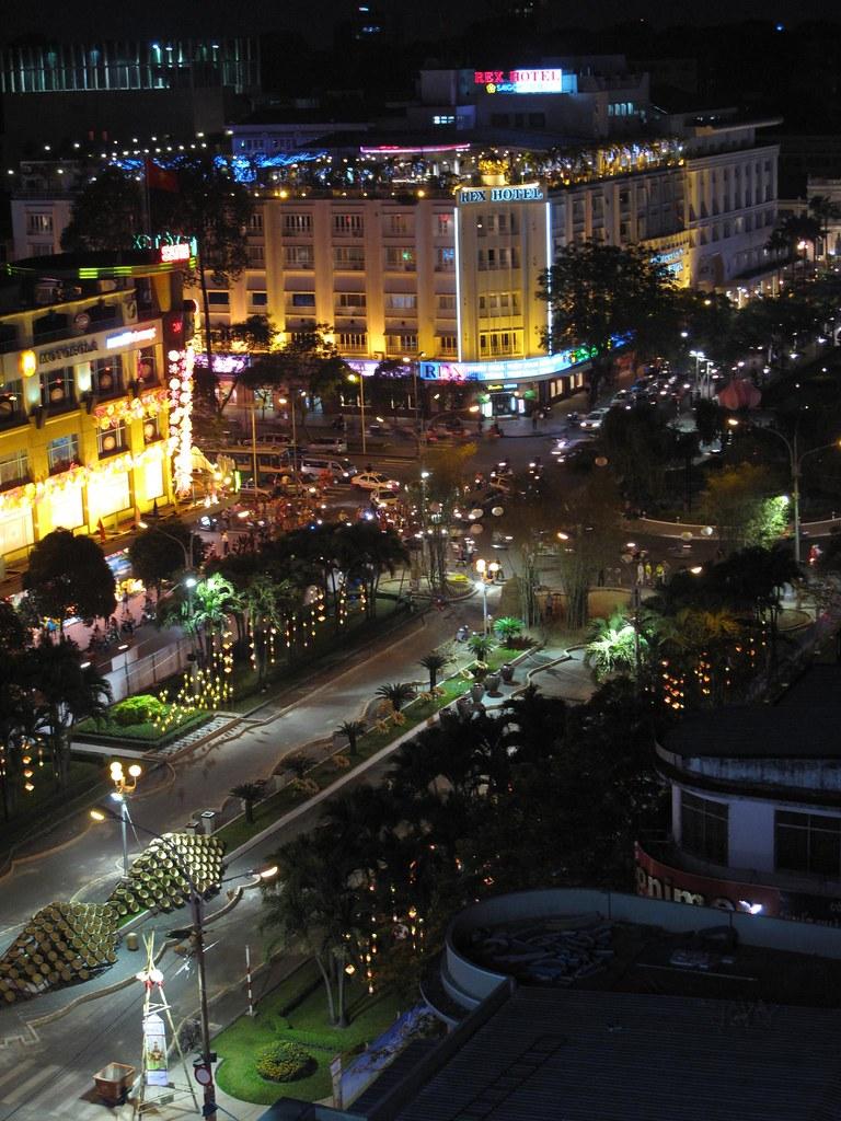 Saigon at night.