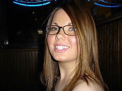 Cute gwg - girl with glasses - called Summer (GwG Fan) Tags: summer smile glasses clubbing nightclub brunette girlswithglasses whiteteeth gwg gwgs