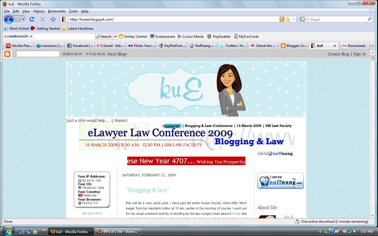 blogging&law