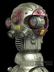 HYUNDAI ATOS TEST PILOT (cutangus) Tags: max robot 3d mechanical retrato render artificial cyborg cyberman droid portrair descendant androide engendro mecnico cutangus descendiente fugaco
