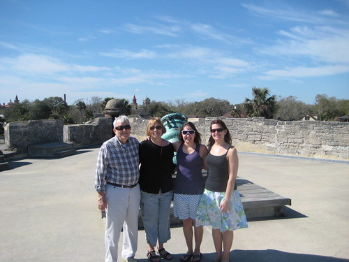 the fam at Castillo de San Marco (by lauraloops)