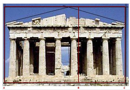 greek and roman art golden ratio