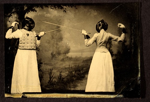 Two women fencing by George Eastman House.