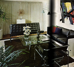 Leather Look Living Room (army.arch) Tags: leather modern livingroom decorating miesvanderrohe 1970 1970s barcelonachair interiordecorating wassilychair