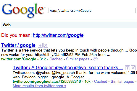 Capitalized URLs in Google