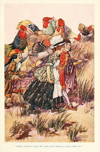 008- Charles Folkard- British fairy and folk tales -1920-El mercado de pollos