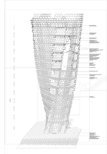 Tower with a Section Cut