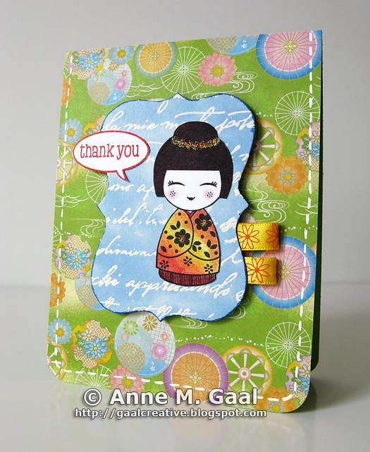 Asian Doll Thank You Card by prospurring (Anne)