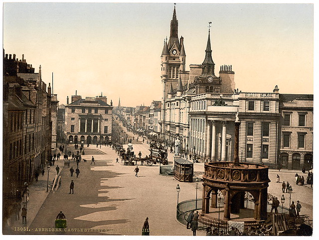 [Castle Street and municipal buildings, Aberdeen, Scotland] (LOC)