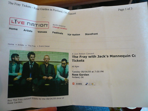 The Fray tickets!!