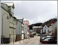 Streets of Akureyri .. Hafnarstrti. (Harbour street) (joningic) Tags: street old houses urban streets nature iceland sunnyday akureyri hafnarstrti