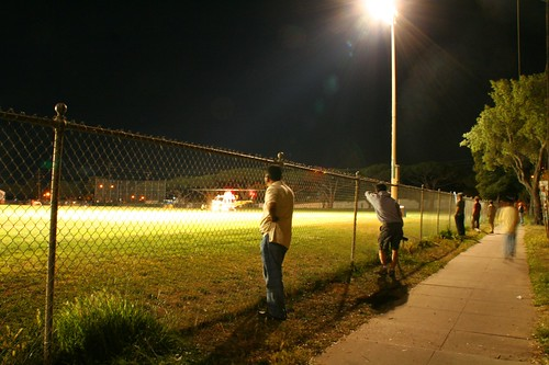 Helicopter at SBJHS Onlookers