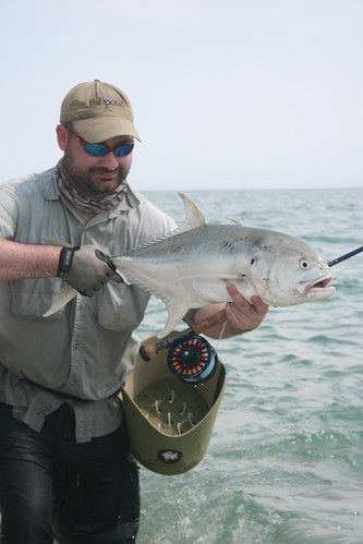 Brendan with Jack Crevalle on fly