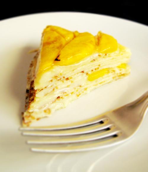 Mango Mille Crepe (sliced)