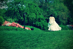 We Touched Heaven in that Doorway, Remember?... (jami_lee) Tags: flowers trees wedding woman ny newyork green girl walking bride dress centralpark frombehind