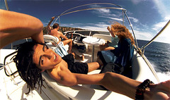 Pirata de agua Sala' (ZONTER) Tags: family sea sky color mar barco cielo dreads rastas privilegio