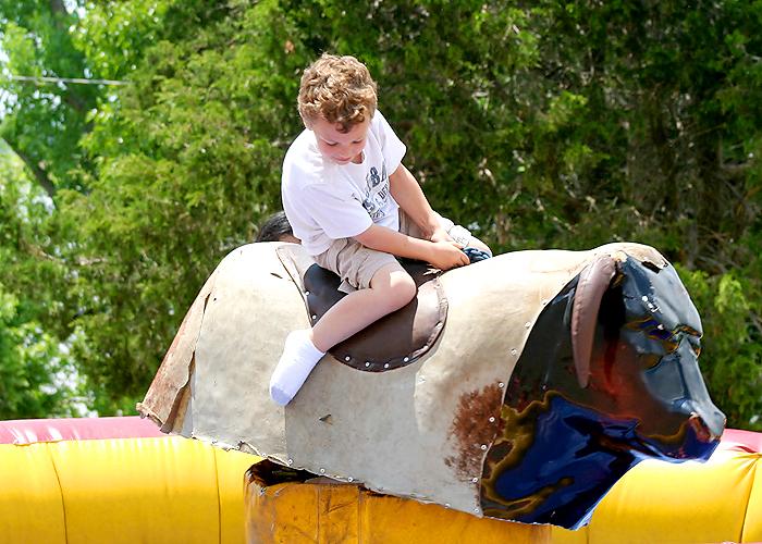 riding a mechanical bull!