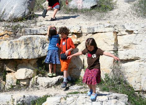 rock climbing, kid style