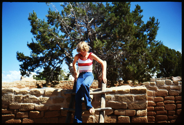 Mom climbing ladder August 79