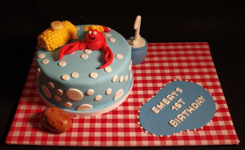 Crawfish Boil First Birthday Cake
