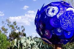 Full Moon (SF knitter) Tags: blue arizona moon hot chihuly glass phoenix cacti hah dalechihuly glasssculpture desertbotanicalgardens cloudage butitsadryheat