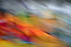 Fire And Ice (just.Luc) Tags: blue red orange abstract motion blur green grey poem quote