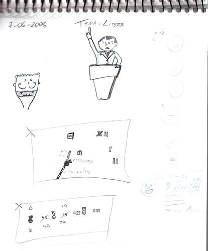 Mi memoria en dibujos 24 (Libre, Discurso, Relojes, Cocinero Malevolo)