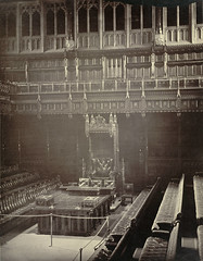 House of Commons. Speaker's Chair (Cornell University Library) Tags: interiors chairs galleries tables symbols benches thrones canopies meetinghouses cornelluniversitylibrary boxescontainers escutcheonscoatsofarms governmentofficebuildings palaceofwestminsterlondonengland culidentifier:lunafield=accessionnumber culidentifier:value=155309001037
