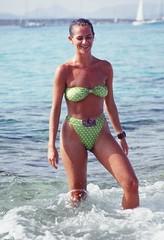 Formentera, Spain (AleDolce) Tags: green beach water spain mare espana bikini bathing formentera spiaggia sunbathing spagna greenbikini