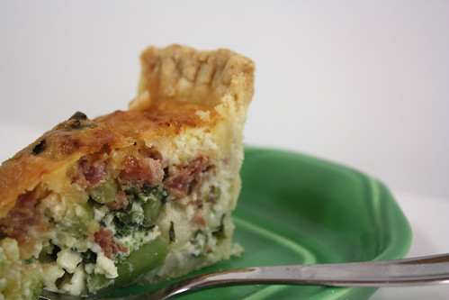 Broccoli Quiche Crust Side