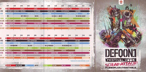 Defqon 1 2009 Timetable - a photo on Flickriver
