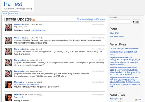 P2 Theme on UMW Blogs
