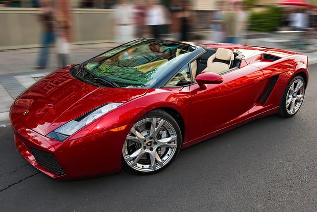Lamborghini Gallardo Spyder rojo