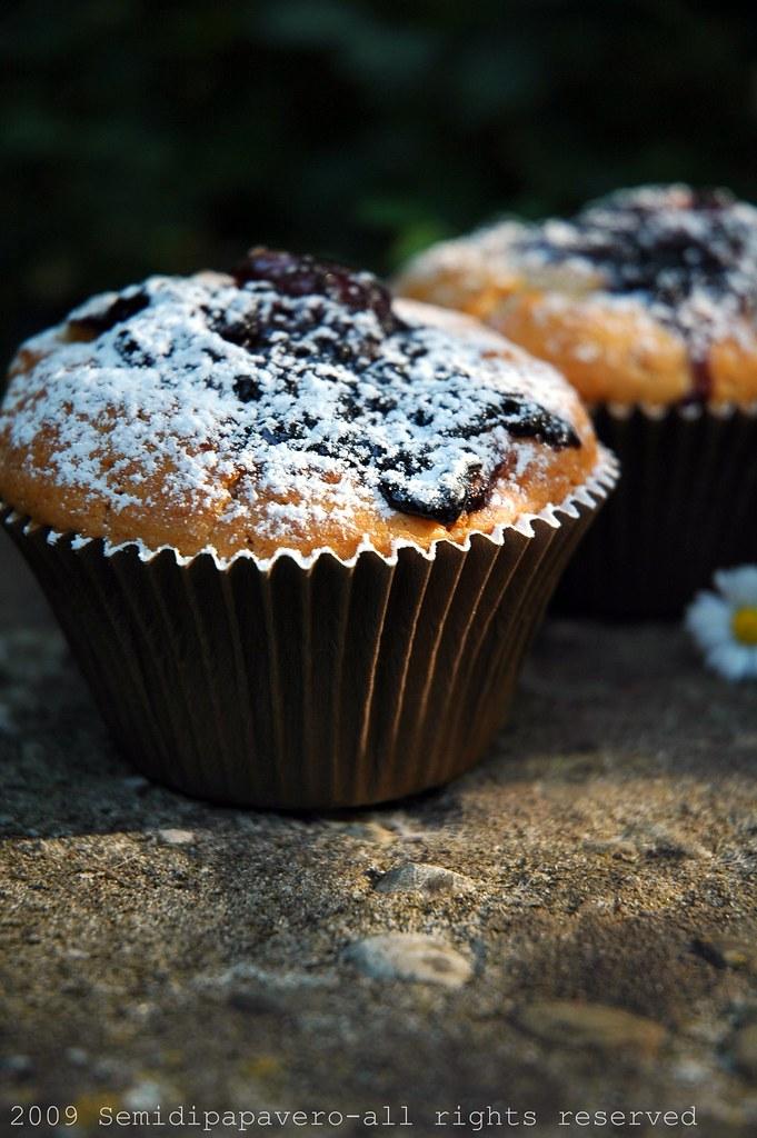 Muffin pesche e mirtilli