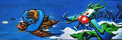 Esteo, Xcept , Obie - Japan Fly | Lublin, Poland (Fat Heat .hu) Tags: red graffiti fly style graffity obie cfs esteo coloredeffects xcept