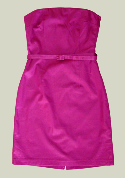 hm_fuschia_strapless_dress