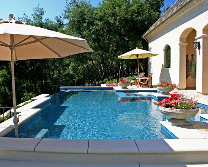 Classic Swimming Pools Shape Home Interior Design