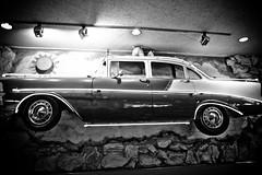 Family Dinner and Family Car (Thomas Hawk) Tags: auto california blackandwhite bw usa chevrolet car america restaurant blackwhite automobile neon unitedstates unitedstatesofamerica chevy eastbay sanleandro emilvillas